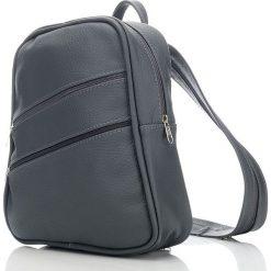 ALENA Skórzany plecak damski Szary. Szare plecaki damskie Abruzzo, ze skóry. Za 119,00 zł.
