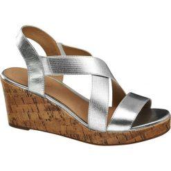 Rzymianki damskie: sandały damskie 5th Avenue srebrne
