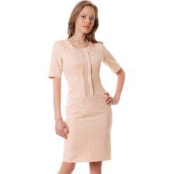 Sukienki hiszpanki: Sukienka w kolorze pudrowo-złotym