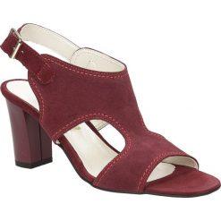 Sandały skórzane na słupku Casu 1931. Brązowe sandały damskie na słupku marki Casu. Za 119,99 zł.
