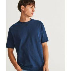 T-shirt z bawełny organicznej - Granatowy. Niebieskie t-shirty męskie Reserved, l, z bawełny. Za 59,99 zł.