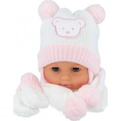 Czapka niemowlęca z szalikiem i rękawiczkami CZ+S+R 124B. Szare czapeczki niemowlęce Proman. Za 47,14 zł.