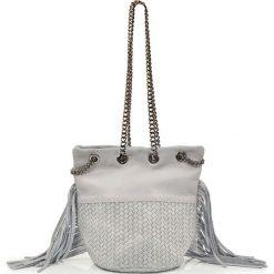 """Torebki klasyczne damskie: Skórzana torebka """"Lauren"""" w kolorze białym – 17 x 20 x 30 cm"""
