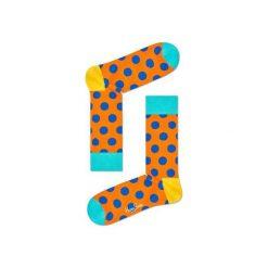 Skarpetki Happy Socks - Big Dot (BDO01-2003). Białe skarpetki męskie Happy Socks, w kolorowe wzory, z bawełny. Za 34,90 zł.