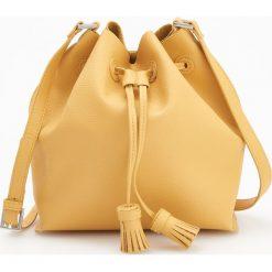 Torebka typu worek - Żółty. Żółte torebki worki Reserved. W wyprzedaży za 79,99 zł.