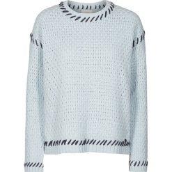 """Sweter """"Amoret"""" w kolorze błękitnym. Niebieskie swetry oversize damskie Nümph, s, ze splotem. W wyprzedaży za 173,95 zł."""
