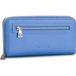 Duży Portfel Damski KAZAR - 28037-01-10  Blue. Niebieskie portfele damskie Kazar, ze skóry. W wyprzedaży za 299,00 zł.