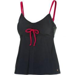 Bikini: Koszulka tankini w kolorze czarno-różowym