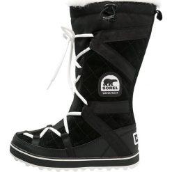 Sorel GLACY EXPLORER Śniegowce black. Czarne śniegowce damskie Sorel, z materiału. Za 659,00 zł.