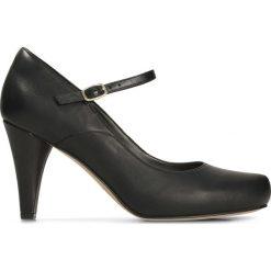 Buty ślubne damskie: Czółenka skórzane z paskiem Dalia Lily