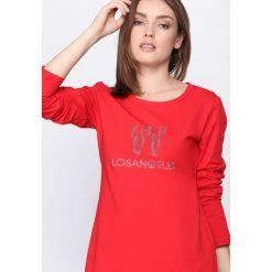Czerwona Tunika Follow My Lead. Czerwone tuniki damskie z długim rękawem marki bonprix. Za 44,99 zł.