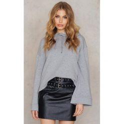Bluzy damskie: NA-KD Basic Bluza z szerokim rękawem - Grey