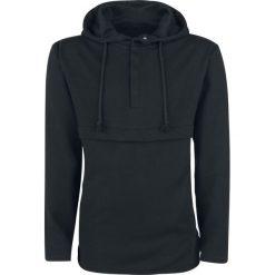 Bluzy męskie: Doomsday Basic Button Hoodie Bluza z kapturem czarny
