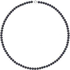 Naszyjniki damskie: Naszyjnik w kolorze czarnym z pereł – dł. 42 cm