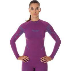 Bluzki sportowe damskie: Brubeck Koszulka damska z długim rękawem Thermo fioletowa r. S (LS13100)