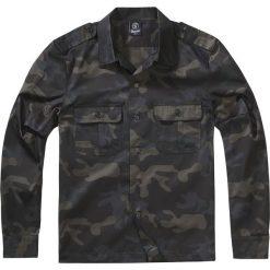 Brandit US Hemd langarm Koszula kamuflaż (Dark Camo). Czarne koszule męskie na spinki marki Leonardo Carbone, s, z materiału, z długim rękawem. Za 79,90 zł.
