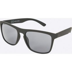 Jack & Jones - Okulary Marco. Czarne okulary przeciwsłoneczne męskie marki Jack & Jones, l, z bawełny, z okrągłym kołnierzem. W wyprzedaży za 39,90 zł.