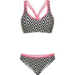 Bikini z biustonoszem opaską (2 części) bonprix kremowo-beżowy. Białe bikini bonprix. Za 32,99 zł.