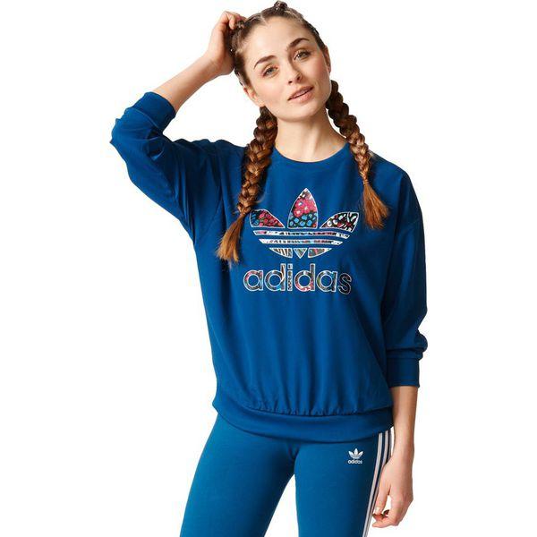 oficjalny sklep całkowicie stylowy Kup online Adidas Originals Bluza damska Originals TRF Sweatshirt niebieska r. 38  (AY8400)