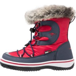 Buty zimowe damskie: KangaROOS MAPLE Śniegowce red/blue