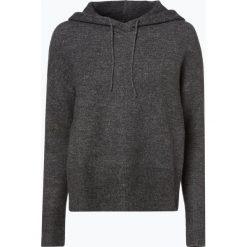 Review - Sweter damski, szary. Szare swetry klasyczne damskie Review, l, z dzianiny, z kapturem. Za 129,95 zł.