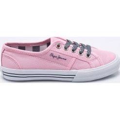 Pepe Jeans - Tenisówki dziecięce. Różowe buty sportowe dziewczęce Pepe Jeans, z jeansu, na sznurówki. W wyprzedaży za 159,90 zł.
