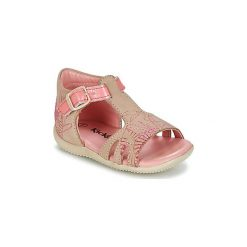 Sandały Dziecko  Kickers  BRIO. Niebieskie sandały dziewczęce marki Kickers, z kauczuku, na sznurówki. Za 202,30 zł.