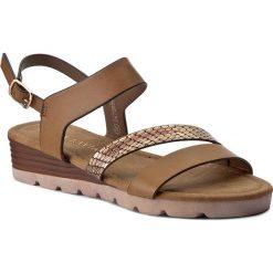 Rzymianki damskie: Sandały VIA RAVIA - WAB-5646-LY5 Brązowy