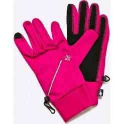Columbia - Rękawiczki. Różowe rękawiczki damskie Columbia, z dzianiny. W wyprzedaży za 69,90 zł.