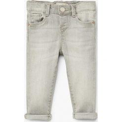Mango Kids - Jeansy dziecięce Elena 80-104 cm. Szare jeansy dziewczęce Mango Kids, z bawełny. W wyprzedaży za 39,90 zł.
