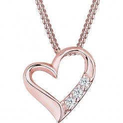 Pozłacany naszyjnik z zawieszką z diamentem - dł. 45 cm. Czerwone naszyjniki damskie marki Julie & Grace, pozłacane. W wyprzedaży za 272,95 zł.