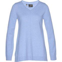 Swetry klasyczne damskie: Sweter Premium bonprix perłowy niebieski