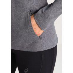ASICS LONG SLEEVE HOODIE Koszulka sportowa dark grey heather. Szare topy sportowe damskie Asics, xs, z elastanu. W wyprzedaży za 199,20 zł.