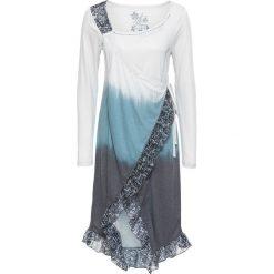 Sukienki: Sukienka z falbanami bonprix szaro-niebieski