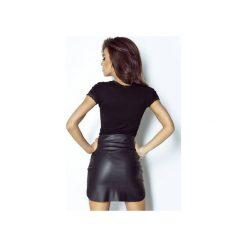 Spódnica Camilla. Czarne spódnice wieczorowe marki ivon, w paski, ze skóry, dopasowane. Za 99,00 zł.