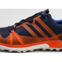 Adidas Performance TERREX AGRAVIC GTX Obuwie hikingowe conavy/orange/blubea. Niebieskie buty sportowe męskie adidas Performance, z materiału, outdoorowe. W wyprzedaży za 543,20 zł.
