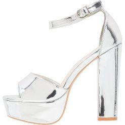 Rzymianki damskie: Glamorous Sandały na obcasie silver