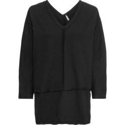 Bluza dresowa bonprix czarny. Czarne bluzy damskie bonprix, z dresówki. Za 89,99 zł.