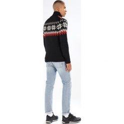 Swetry klasyczne męskie: Dale of Norway MYKING  Sweter black/raspberry/off white