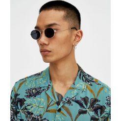 Koszula w kwiaty. Szare koszule męskie marki Pull & Bear, okrągłe. Za 39,90 zł.
