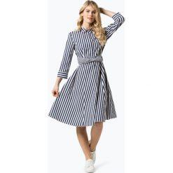 (THE MERCER) N.Y. - Sukienka damska, niebieski. Niebieskie sukienki marki (THE MERCER) N.Y., w paski, eleganckie, z klasycznym kołnierzykiem, koszulowe. Za 899,95 zł.