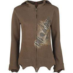 Bluzy damskie: Spiral Night Riffs Bluza z kapturem rozpinana damska brązowy