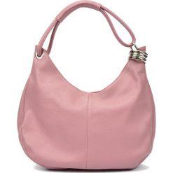 Torebki i plecaki damskie: Skórzana torebka w kolorze różowym – (S)39 x (W)28 x (G)3 cm