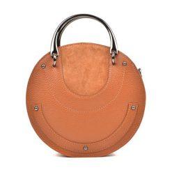Torebka w kolorze koniaku - (S)21 x (W)21 x (G)7 cm. Brązowe torebki klasyczne damskie Bestsellers bags, w paski, z materiału. W wyprzedaży za 249,95 zł.