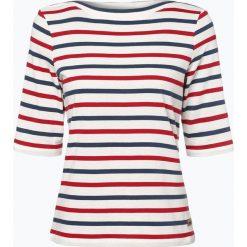 Derbe - T-shirt damski – Harbour, beżowy. Brązowe t-shirty damskie marki Derbe, xl, w paski, z klasycznym kołnierzykiem. Za 239,95 zł.