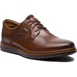 Półbuty CLARKS - Un Geo LaceGtx GORE-TEX 261380417 Brown Leather. Brązowe półbuty skórzane męskie Clarks. Za 589,00 zł.
