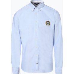 Tommy Hilfiger - Koszula męska – Crest, niebieski. Białe koszule męskie na spinki marki DRYKORN, m. Za 329,95 zł.