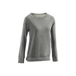 Koszulka długi rękaw Gym & Pilates 500 damska. Niebieskie bluzki sportowe damskie DOMYOS, xl, z bawełny. Za 29,99 zł.