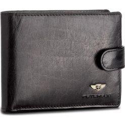 Duży Portfel Męski PETERSON - 334/RFID-2-1-1 Czarny. Czarne portfele męskie Peterson, ze skóry. Za 139,00 zł.