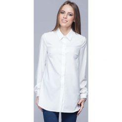 Bielizna damska: Ecru Elegancka Koszula o Wydłużonym Kroju